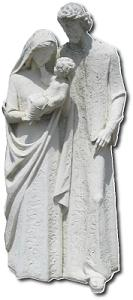 Statue of Mary, Jesus, and Joseph